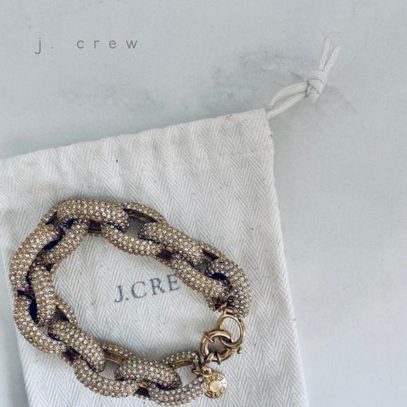 J. Crew Jewelry - J. CREW gold-tone pavé link bracelet